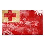 Tonga Flag Sticker (Rectangle 10 pk)