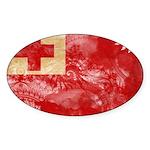 Tonga Flag Sticker (Oval)