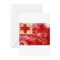 Tonga Flag Greeting Cards (Pk of 20)