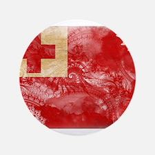 "Tonga Flag 3.5"" Button"