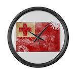 Tonga Flag Large Wall Clock