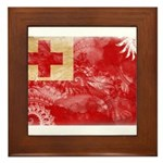 Tonga Flag Framed Tile