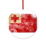 Tonga Flag Ornament (Round)