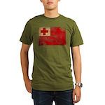 Tonga Flag Organic Men's T-Shirt (dark)