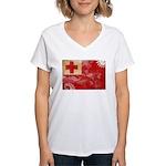 Tonga Flag Women's V-Neck T-Shirt