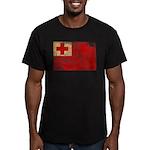 Tonga Flag Men's Fitted T-Shirt (dark)