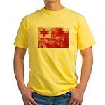 Tonga Flag Yellow T-Shirt