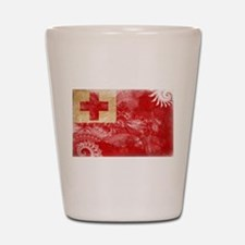 Tonga Flag Shot Glass