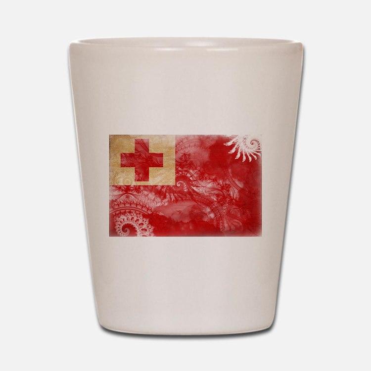 Tonga Flag Shot Glass