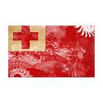 Tonga Flag 38.5 x 24.5 Wall Peel