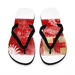 Tonga Flag Flip Flops