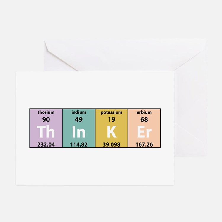 Chemistry Thinker Greeting Cards (Pk of 10)