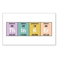 Chemistry Thinker Rectangle Decal