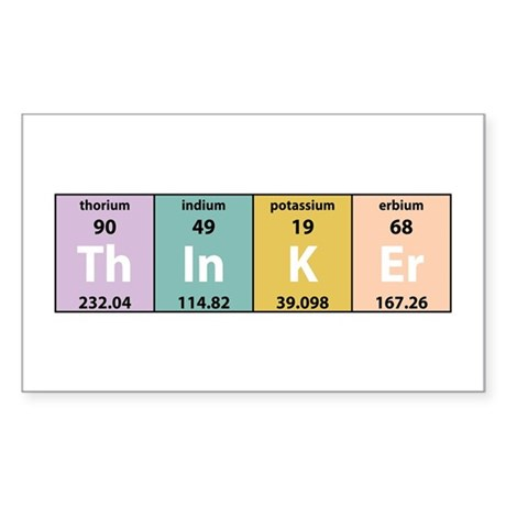 Chemistry Thinker Rectangle Sticker