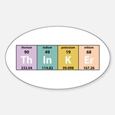 Chemistry Thinker Oval Decal