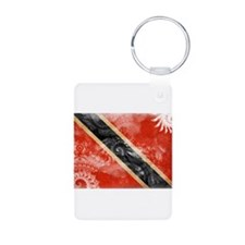 Trinidad and Tobago Flag Aluminum Photo Keychain