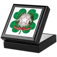 Irish Italian Heritage Keepsake Box