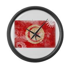 Tunisia Flag Large Wall Clock