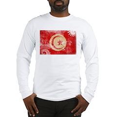 Tunisia Flag Long Sleeve T-Shirt