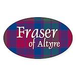 Tartan - Fraser of Altyre Sticker (Oval 10 pk)