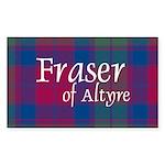 Tartan - Fraser of Altyre Sticker (Rectangle 50 pk