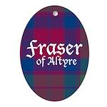 Tartan - Fraser of Altyre Ornament (Oval)