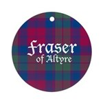 Tartan - Fraser of Altyre Ornament (Round)