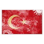 Turkey Flag Sticker (Rectangle 50 pk)