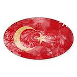 Turkey Flag Sticker (Oval 50 pk)