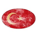 Turkey Flag Sticker (Oval 10 pk)