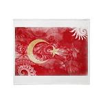Turkey Flag Throw Blanket