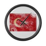Turkey Flag Large Wall Clock