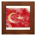 Turkey Flag Framed Tile
