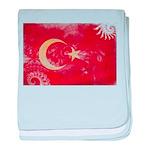 Turkey Flag baby blanket