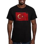 Turkey Flag Men's Fitted T-Shirt (dark)