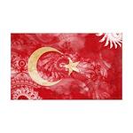 Turkey Flag 38.5 x 24.5 Wall Peel