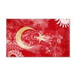 Turkey Flag 22x14 Wall Peel