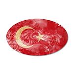 Turkey Flag 38.5 x 24.5 Oval Wall Peel