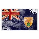 Turks and Caicos Flag Sticker (Rectangle 50 pk)
