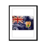 Turks and Caicos Flag Framed Panel Print