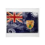 Turks and Caicos Flag Throw Blanket