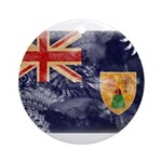 Turks and Caicos Flag Ornament (Round)