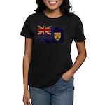 Turks and Caicos Flag Women's Dark T-Shirt