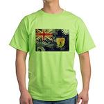 Turks and Caicos Flag Green T-Shirt