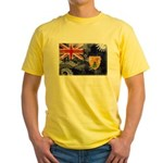 Turks and Caicos Flag Yellow T-Shirt