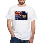 Turks and Caicos Flag White T-Shirt