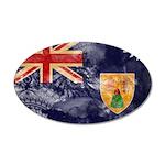 Turks and Caicos Flag 22x14 Oval Wall Peel