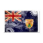 Turks and Caicos Flag Car Magnet 20 x 12