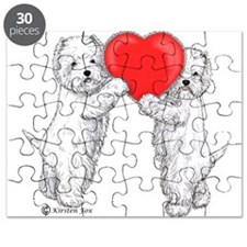 Westies with Heart Puzzle