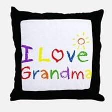 I Love Grandma Throw Pillow